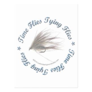 Time Flies Tying Flies Postcard