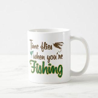 Time Flies When You're Fishing Coffee Mug