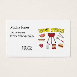 Time For A BBQ Business Card