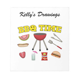 Time For A BBQ Notepad