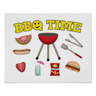 Time For A BBQ Poster