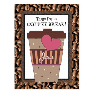 Time for a Coffee Break postcard