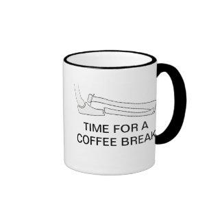 TIME FOR A COFFEE BREAK RINGER MUG
