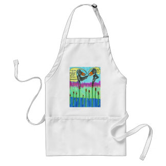 Time for a Facelift Baby Adult Apron