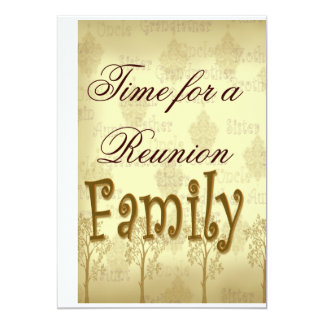 Time for a Family Reunion Card