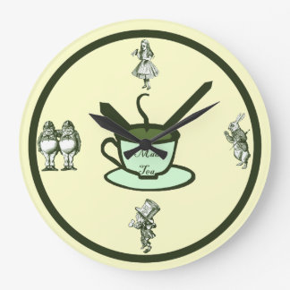 Time for a Mad Tea Party Wall Clock