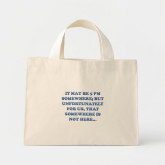 Time for a margarita mini tote bag