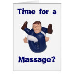 Time for a Massage? blank inside I n... Stationery Note Card