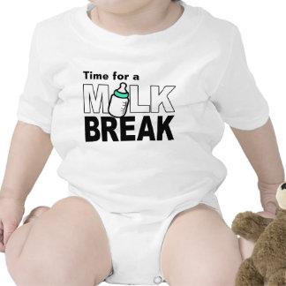 Time for a Milk Break (green baby bottle) Tshirt