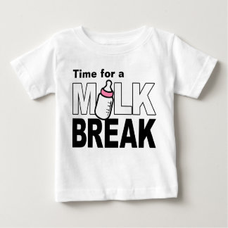 Time for a Milk Break (pink baby bottle) Baby T-Shirt