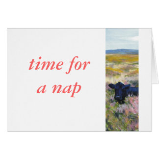 Time for a nap card