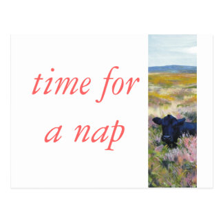 Time for a nap postcard