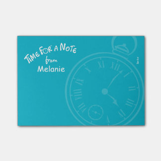"""""""Time for a note"""" personalized post-it note Post-it® Notes"""