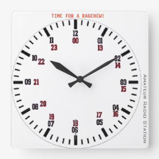 Time for a rag chew clock
