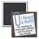 Time For a Refill Magnet