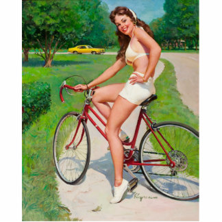 Time for a Ride - Retro Pin-up Girl Cutout
