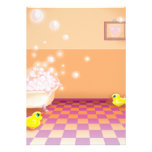 time for a rubber ducky tubby custom invitation