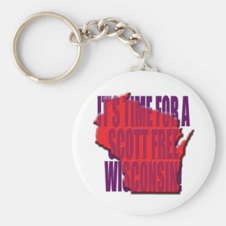 Time for A Scott Free Wisconsin Keychain