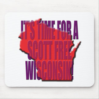 Time for A Scott Free Wisconsin Mouse Pad