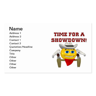 Time For A Showdown 2 Business Card Template