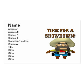 Time For A Showdown Business Cards