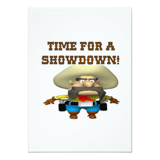 Time For A Showdown Card