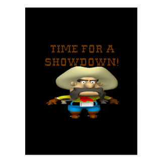 Time For A Showdown Postcard