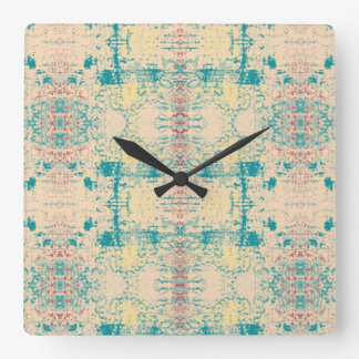 Time for a Sunday Morning Raga Square Wall Clocks