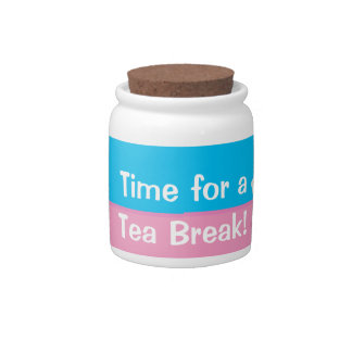 Time for a Tea break teacup jar Candy Jars