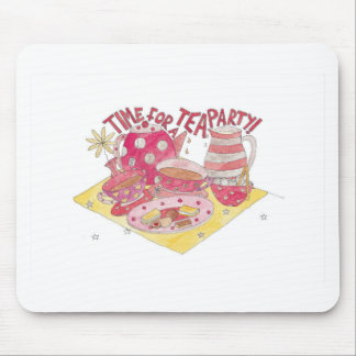 Time For A Tea Party Mouse Pad