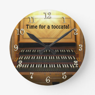 Time for a toccata! organist's wall clock