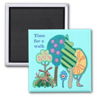 Time for a walk magnet