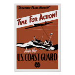 Time For Action -- Join The U.S. Coast Guard Poster