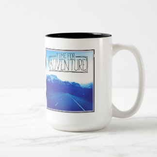 Time For Adventure Two-Tone Coffee Mug