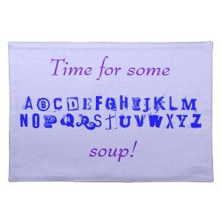 Time for Alphabet Soup! Cloth Place Mat