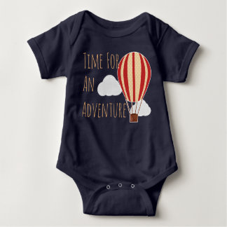 Time For An Adventure Hot Air Balloon Baby Bodysuit