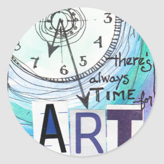Time for Art Classic Round Sticker
