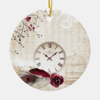 Time for Beauty Ceramic Ornament