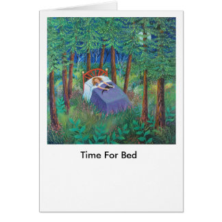 TIME FOR BED CARD