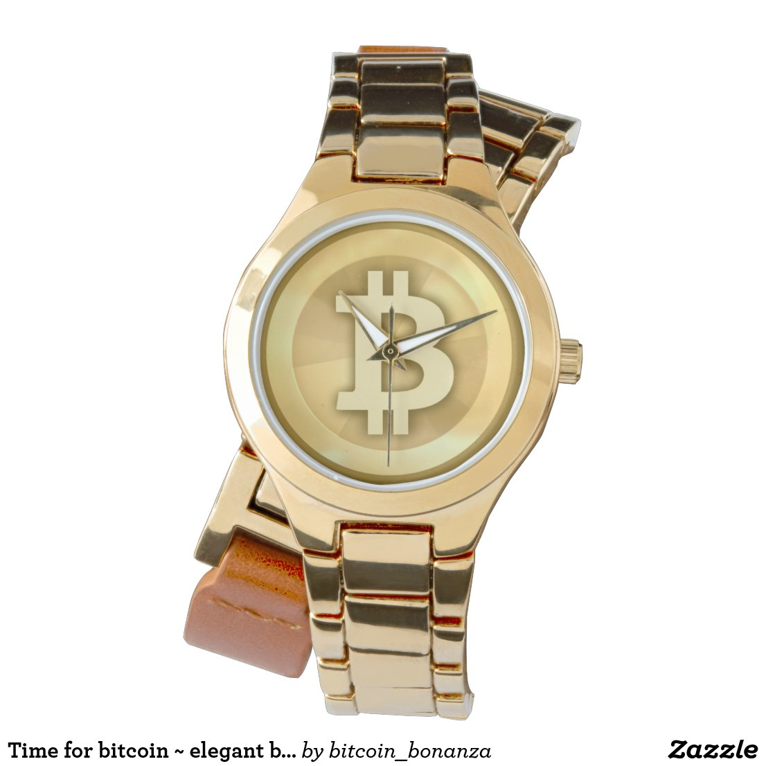 Time for bitcoin ~ elegant bitcoin logo wrist watch