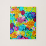 TIME FOR BUBBLY - Colorful Bright Bold Abstract Puzzles