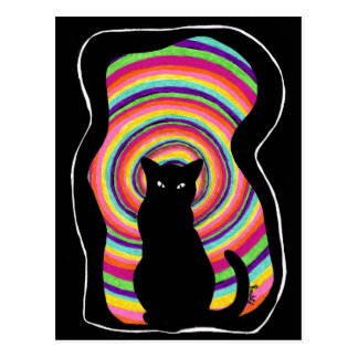 time for child stories: the BLACK CAT Postcard
