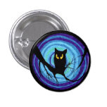 time for child stories: the EVIL OWL 1 Inch Round Button