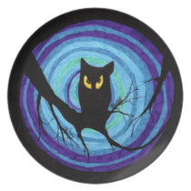 time for child stories: the EVIL OWL Dinner Plate