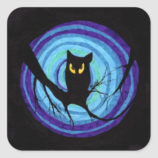 time for child stories: the EVIL OWL Square Sticker