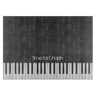 Time for Chopin Piano Keyboard Cutting Board