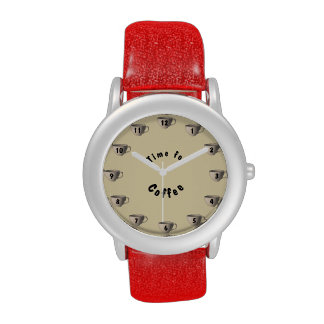 Time for Coffee Glitter Watch