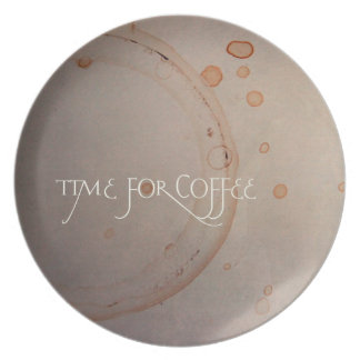 Time for coffee plate
