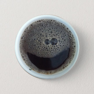 Time for coffee smiley face button