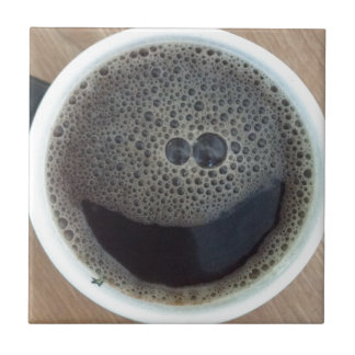 Time for coffee smiley face ceramic tile